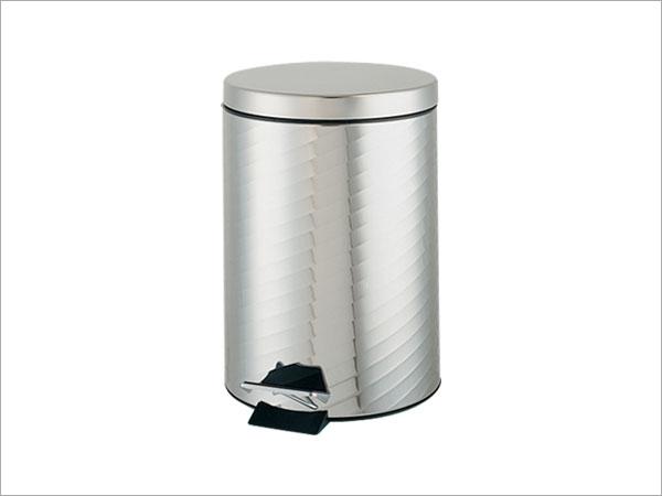 螺纹5l小型脚踏垃圾桶/c05