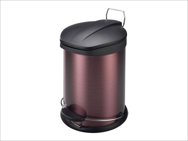 玫瑰金5l脚踏垃圾桶/c02-5l